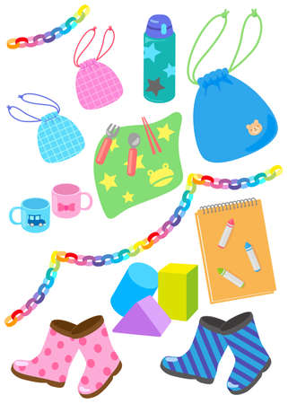 Small illustration set for use in kindergartens and nursery schools