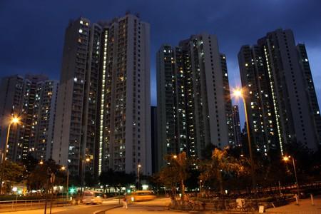 livelihood: building and livelihood of Hongkong Stock Photo