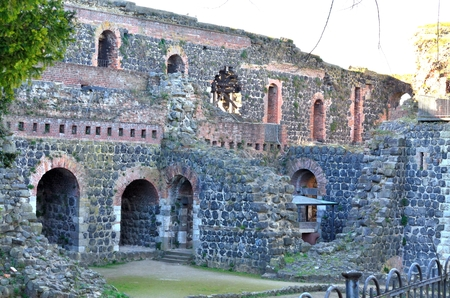 rhine westphalia: Castle ruins Emperor Kaiserswerth Stock Photo