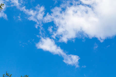 convective: Beautiful blue spring sky with white clouds  Stock Photo