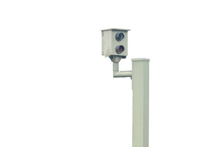 transgression: Radar control, flash, speed camera, speed camera against a white background
