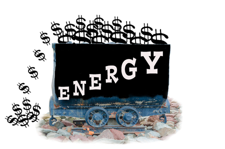 Mining Lore rise with label energy symbol energy costs photo