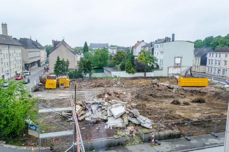 old office: Demolition of an old office building in a city center Editorial