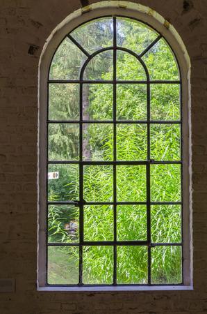 LWL-Open-Air Museum Hagen. Afbeeldingen met dank aan de afdeling Public Relations. Hier is een mooie oude stalen ijzeren raam in de Westfaalse stijl.