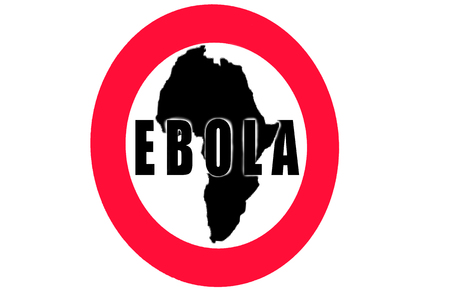 dissemination: Round Warning Sign, Ebola outbreak in Africa.
