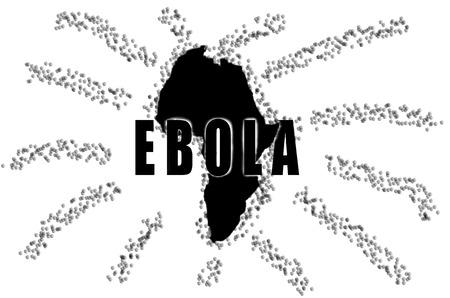 symbol vigilance: Note, Ebola outbreak in Africa. Stock Photo