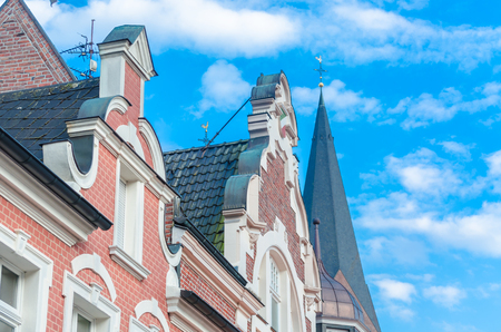 gabled houses: Various ancient gabled houses by Dutch architecture.