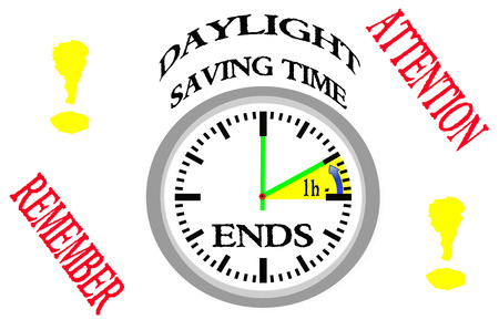daylight: Daylight saving time ends.