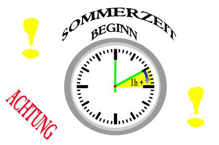 daylight savings time: Daylight savings time, daylight saving time begins Stock Photo