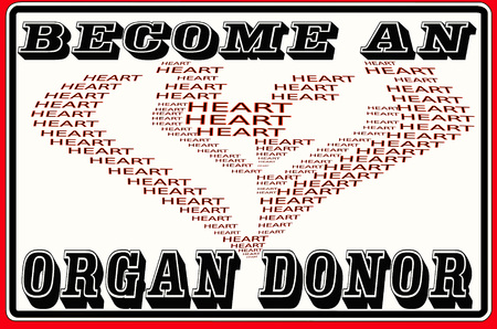 ms: Sign with inscription Become an organ donor. Stock Photo