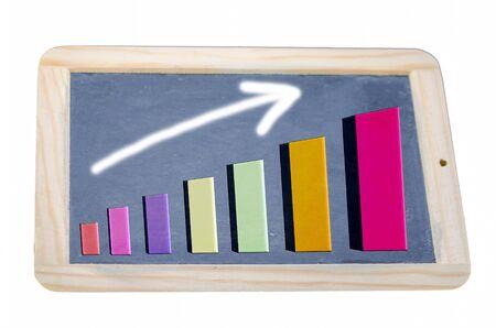 Illustration - the charts, arrow directed upwards illustration
