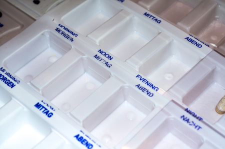 encapsulated: Open day planner drugs for the sort of pills and tablets.