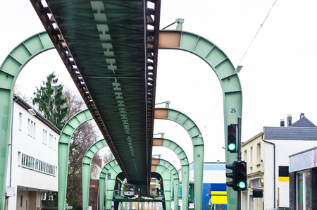 seemed: Carriageway of the Wuppertal suspension railway in the district of Vohwinkel. Stock Photo