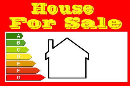house for sale: Red sign with inscription, house for sale and house icon. Panel for real estate agents.