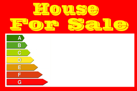 rood teken: Red sign with inscription, house for sale. Panel for real estate agents.