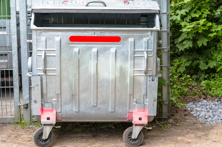 landfill: (recycling containers) on a street Stock Photo