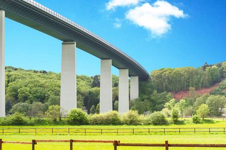 Highway bridge highway A52 over the Ruhr valley.