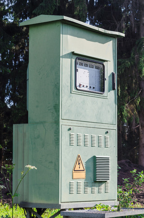 control box: Transformer cabinet, electrical control box for outdoor installations.