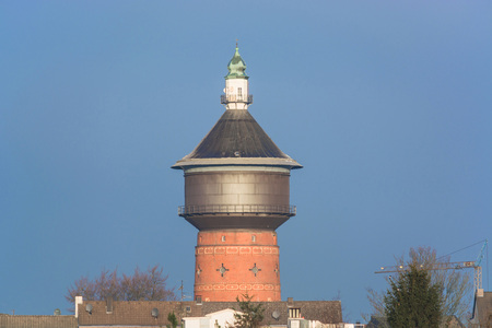 pitched roof: Old Water Tower at the Steeger street in Velbert, Germany.