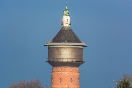 pitched roof: Old Water Tower at the Steeger Strae in Velbert, Germany.