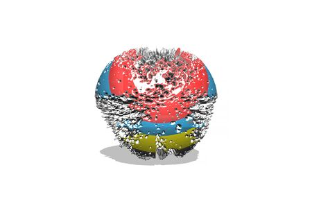 metal sphere: 3d metal sphere with abstract geometric shapes