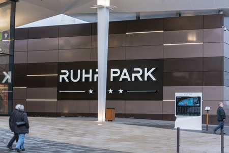 ruhr: BOCHUM, NRW, GERMANY - JANUARY 11, 2016: Exterior entrance to the shopping center Ruhr Park in Bochum. The shopping center Ruhr Park in Bochum is one of the largest in Germany. Editorial