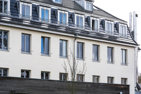 anno: BAD HONNEF, GERMANY - MARCH 27, 2016: Former school building business school St Anno school brothers in Bad Honnef in Germany on the Rhine.