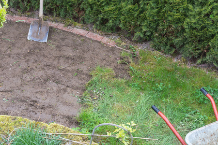 Gardening, Remove Of The Old Grass Sward Stock Photo   62242404