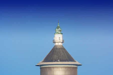 pitched roof: Old Water Tower at the Steeger Stra�?? ... AE in Velbert, Germany.