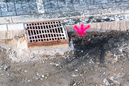 refurbishment: Roads repair with installation of a new channel cover.