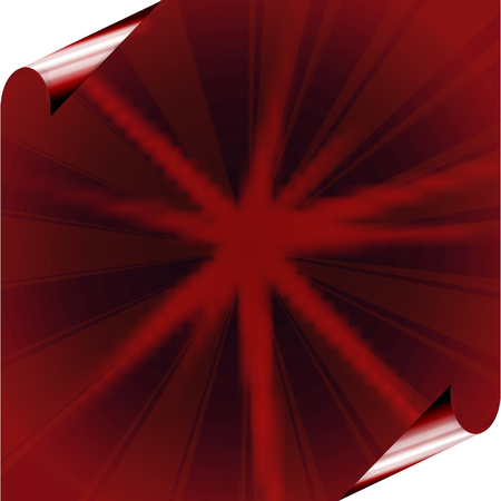 red sheet: Red sheet of paper with a diamond pattern and curved corner.