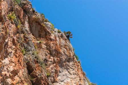 Cliffs on the steep west coast of Mallorca. Stock Photo