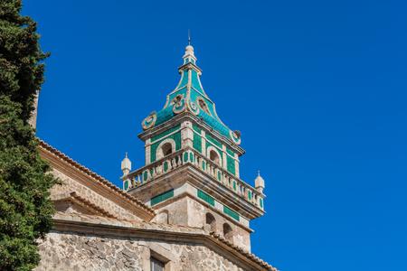Monastery of Valldemossa, front view, Mallorca, Spain.