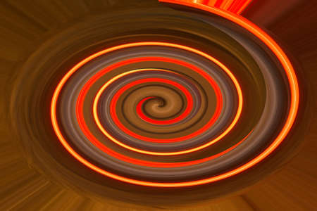 Abstract illustration, Vibrant color spirals Spiral background. Stock Photo