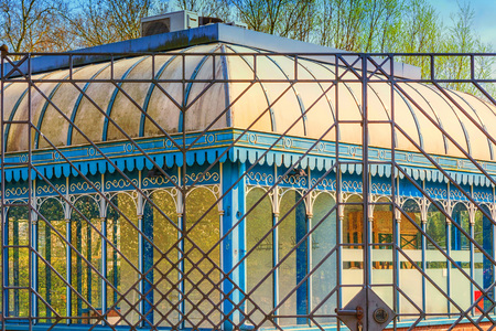 Tourainer pavilion a construction with an ornamental roof and canopy. Stock Photo