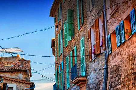 Street view in Valldemossa, Mallorca in Spain.