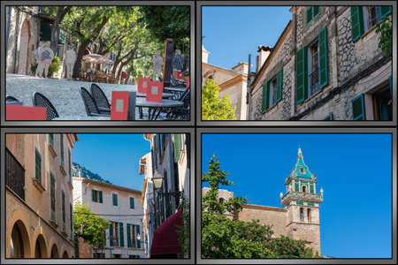 Impressions of Valldemossa on Mallorca in Spain in the framework of four unique images.