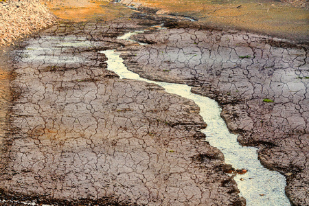 arroyo: Dried river bed in the desert