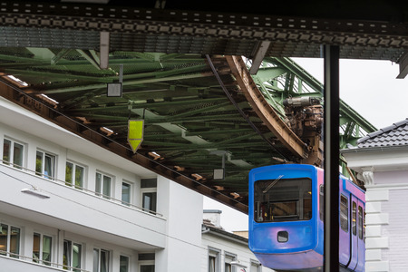 The Suspension Railway in Wuppertal is an elevated railway  for public passenger transport. Reklamní fotografie