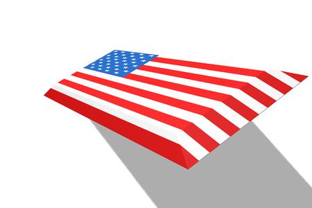 America flag concept, 3D rendering Stock Photo