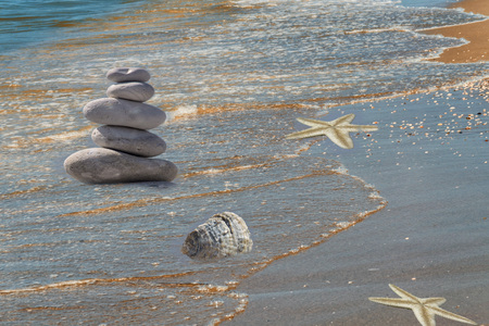 So-called strandgut on a sandy beach