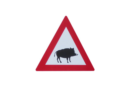 Road Sign - Road Sign - Attention Wildlife - Boar - Wildlife Danger