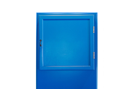Blue small cabinet door collection without lettering