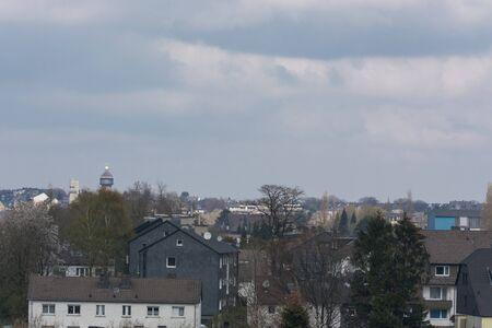 Panoramic shot, skyline of the city of Velbertwith sights Reklamní fotografie