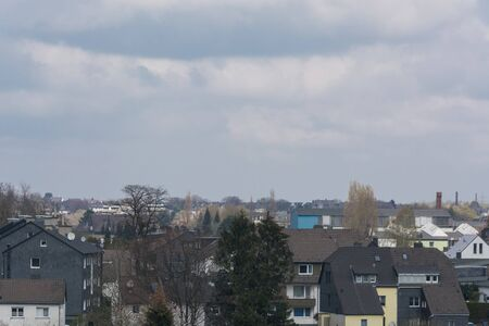 Panoramic shot, skyline of the city of Velbert