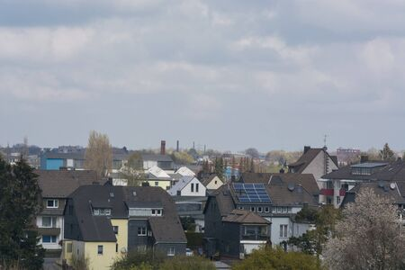 Panoramic shot, skyline of the city of Velbertwith sights Stock fotó