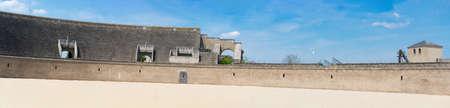 Ruins of an amphitheater in an ancient eropean city. Zdjęcie Seryjne