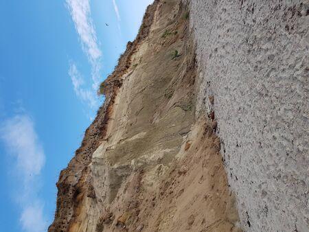 Cliff on the Baltic Sea near Darß Zingst Fischland Zdjęcie Seryjne
