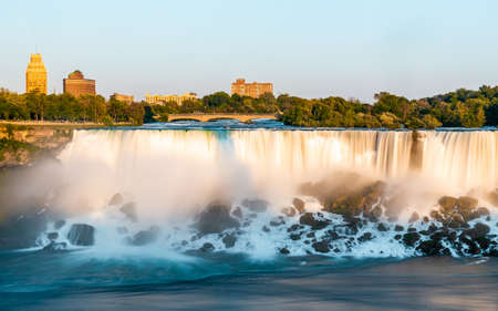 Niagara Falls on Canada side before sunset with clear sky , Niagara , Canada Standard-Bild