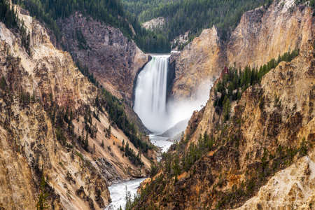 Grand canyon of yellowstone the most beautiful in Yellowstone national park , Wyoming , United States of America